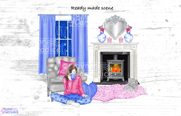 Cosy winter collection in Illustrations - product preview 3