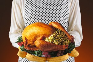 Woman With Thanksgiving Turkey