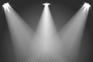 Stage spotlight beams