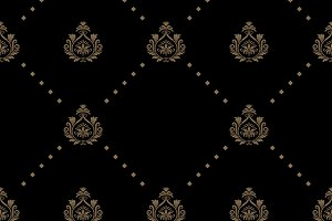 Seamless pattern in black color