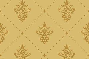 Aristocratic baroque pattern