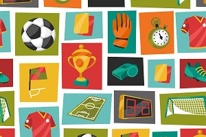 Soccer background and pattern.