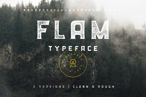 FLAM Typeface | Clean + Rough SALE