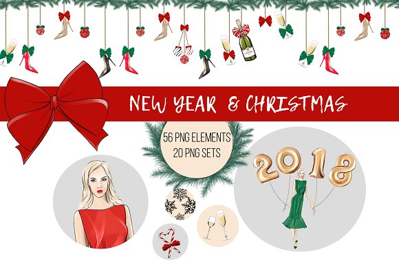 New Year & Christmas Clip A-Graphicriver中文最全的素材分享平台