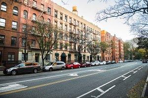 New York Manhattan uptown street