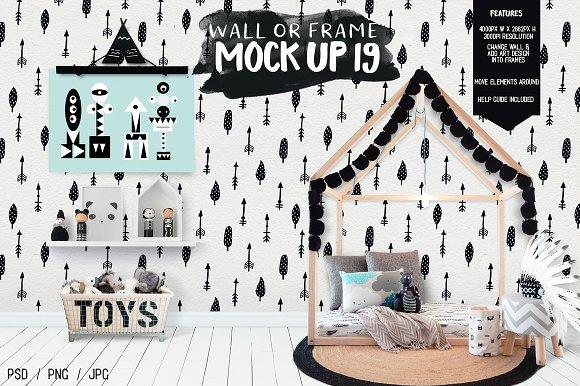 Download Kids Room Wall/Frame Mock Up 19