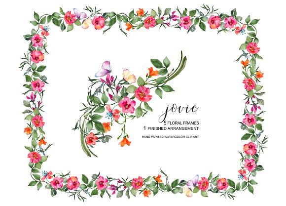 Watercolor Floral Frame Set ~ Illustrations ~ Creative Market