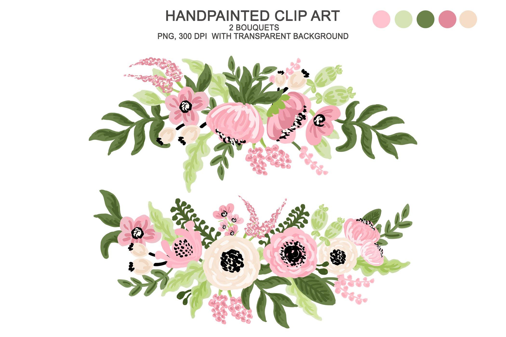 Digital Watercolor Flower Clipart | Custom-Designed ...