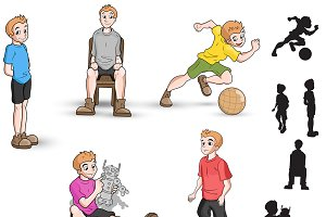 Boy playing - Various Poses