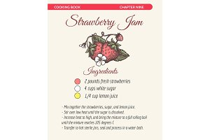 Strawberry jam recipe book page