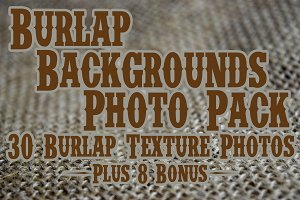 Burlap Backgrounds Photo Pack