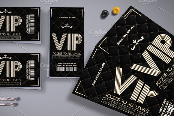 Luxury VIP Pass Card ~ Card Templates ~ Creative Market