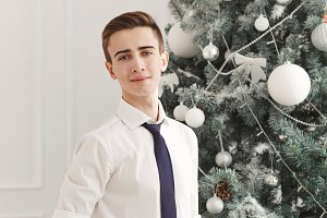 Guy teen meets Christmas.