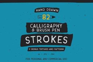 Calli & Brushpen strokes + bonus!