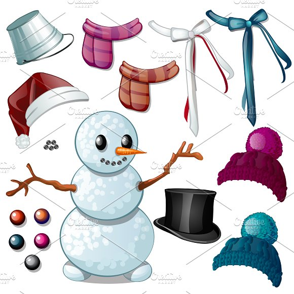 Snowman Knitted Hats Scarves