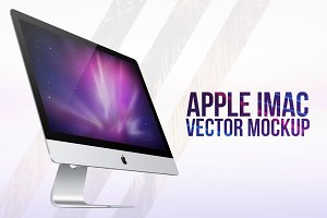 New Apple iMac (2014) Vector MockUp