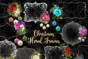 Christmas Floral Frames