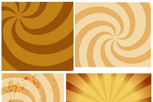 Circular Sunbursts Backgrounds