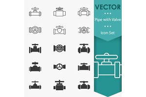 Valve icons vector