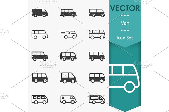 Van icons vector