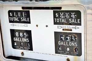 Gas pump panel.