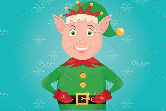 illustration of Christmas Elf