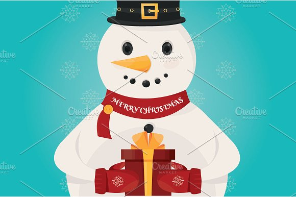 illustration of Christmas Snowman  in Illustrations