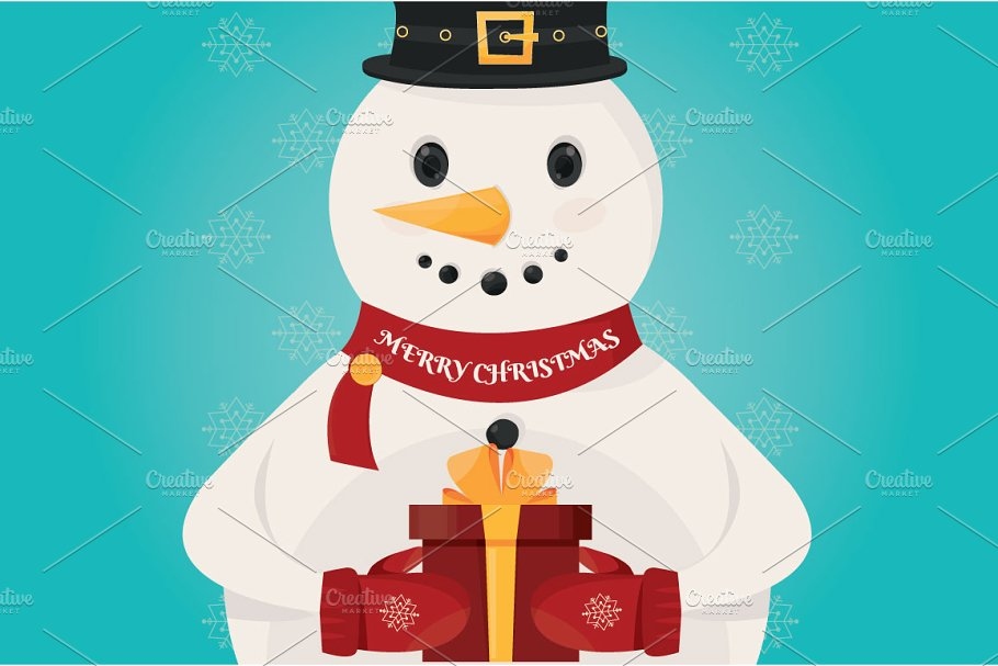 illustration of Christmas Snowman  in Illustrations - product preview 8