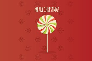 illustration of Christmas lollipop