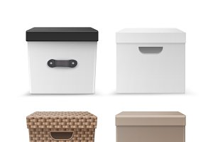 Set of storage boxes