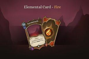 Elemental Card - Fire