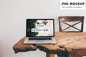 PSD layered computer mockup
