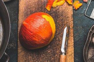 Pumpkin peeling
