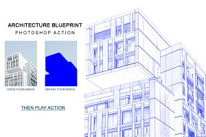 Architecture Blue Print Photoshop ac