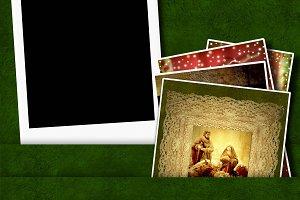 Christmas blank photo frame.