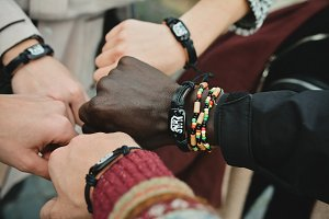 international friendship hands