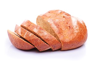 rye bread isolated