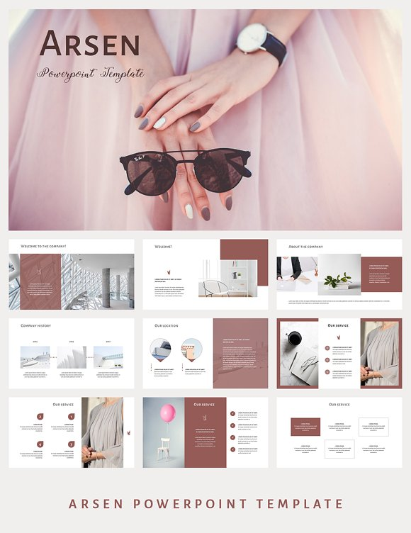 ARSEN Powerpoint Template 5-Graphicriver中文最全的素材分享平台