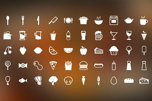 Snack Time - 50 Food Themed Icons