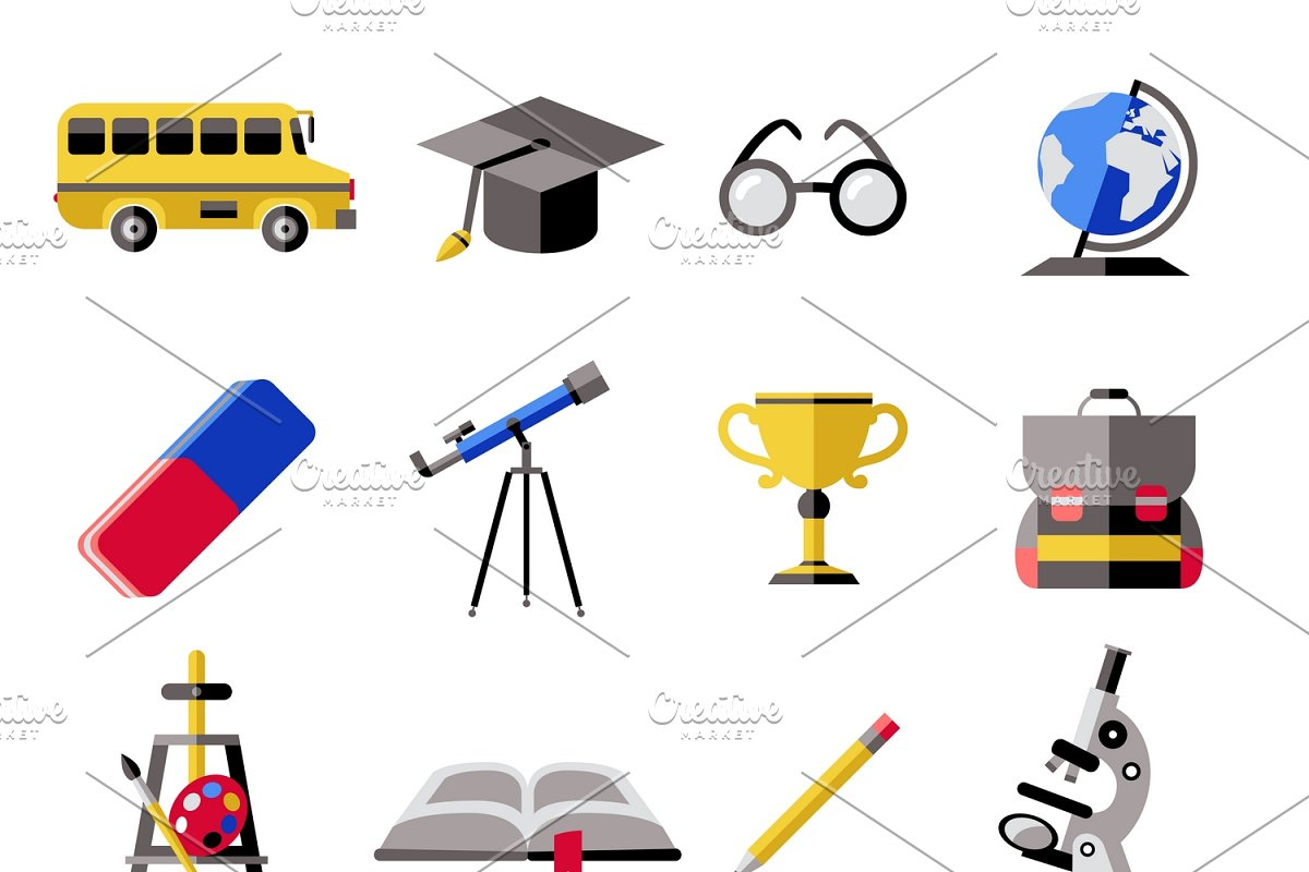 School Icon Set in Graphics - product preview 8