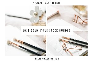 Rose Gold Styled Beauty Stock Images