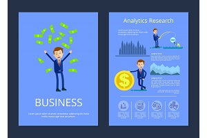 Business and Analytic Research Vector Illustration