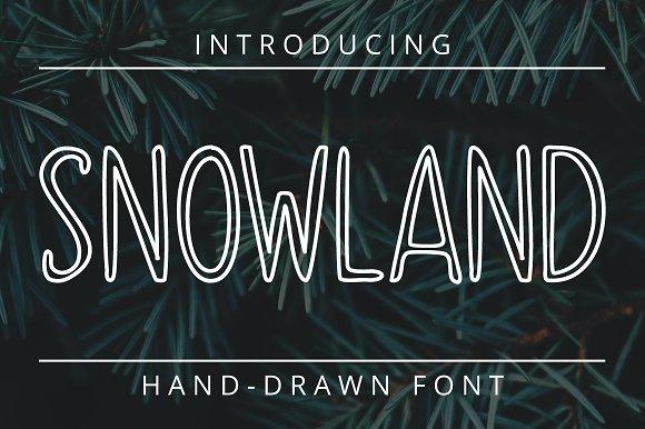 SNOWLAND - hand drawn winter font