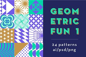 Geometric Fun 1 ~ 24 patterns