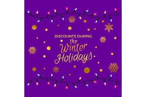 Discounts During Winter Holidays Illustration