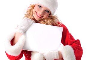 Christmas greetings blank placard