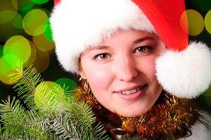 Santa girl face