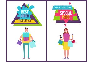 Best Offer Premium One Day Vector Illustration