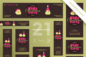 Banners Pack | Kids Christmas Party