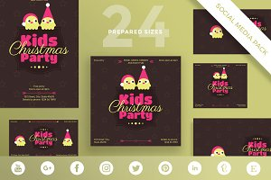 Social Media Pack | Kids Christmas Party